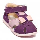 Sandale fete avus din piele AV36 mov roz 17-26