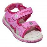 Sandale fete cu brant din piele 1613 pink 22-35