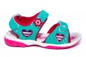 Sandale fete de vara sport 491 turcoaz fuxia 24-35