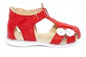 Sandale fete elegante 346 rosu alb 18-25