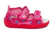 Sandale fete flexibile cu brant din piele 1230 fuxia roz 20-25