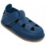 Sandalute baieti barefoot din piele 2022 blu 18-25