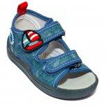 Sandalute baieti flexibile cu brant din piele 1430 blue 20-25