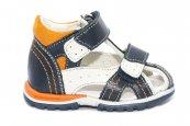 Sandalute baieti hokide picior lat din piele naturala 311 blu alb port 18-25