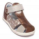 Sandalute fete piele pj shoes Pablo bronz lux 18-26