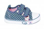 Tenisi fetite textil 983 blue roz 20-25
