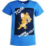 Tricouri baieti Tom si Jerry 8577 albastru