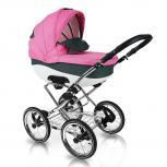 Carucior copii 3 in 1 Bexa Classica Line Grey Pink Chrom