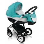 Carucior copii 3 in 1 Bexa Ideal Turquoise
