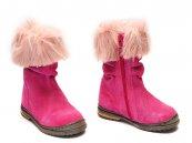 Cizme piele copii Lili roz