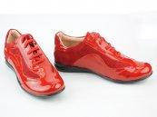 Pantofi femei din piele 3212 rosu lac