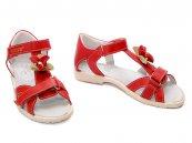 Sandale fete din piele hokide 309 rosu