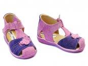 Sandale fete piele 574 mov lila
